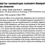 An algebraic model for nonisotropic turbulent dissipation rate in Reynolds stress closures