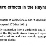Description of the pressure effects in the Reynolds stress transport equations