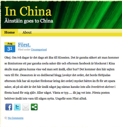 Äinstäin goes to China