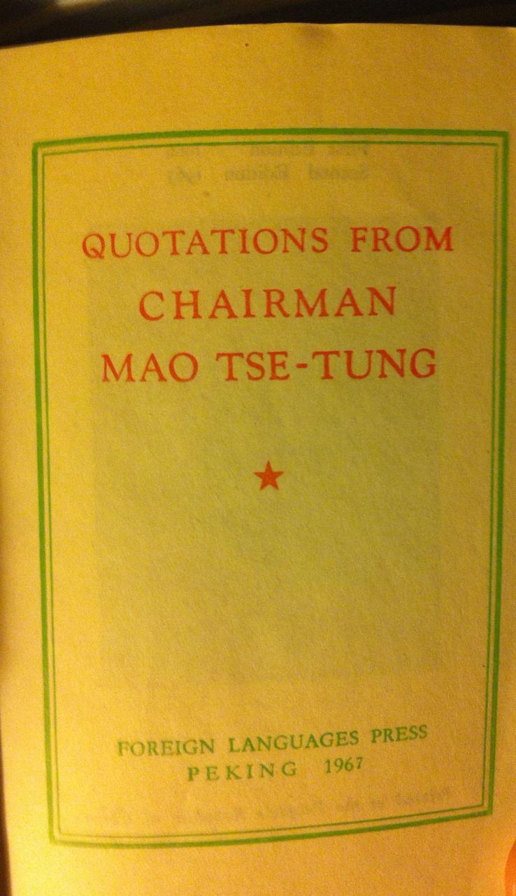 Citat från ordförande Mao