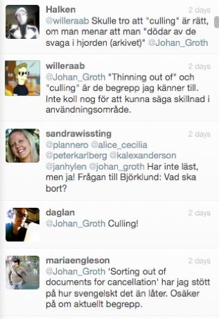 Mina tweets och jag: tweet #1 – februari 2012