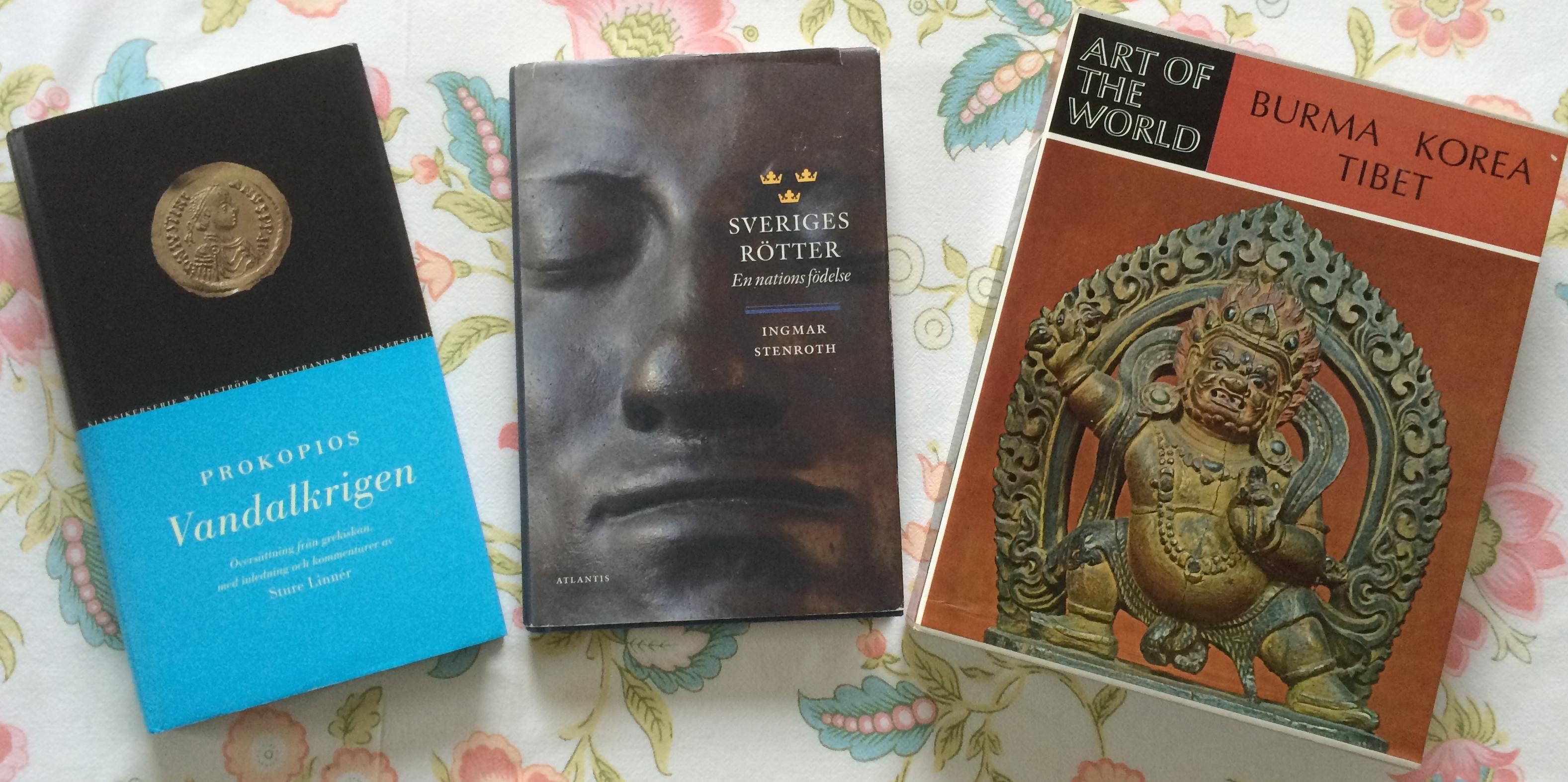 Tre böcker om historia