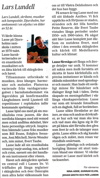 Runa över Lars Lundell